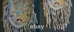 Fine Late 1800 Native American Lakota Sioux 2 Sided Beaded Medicine or Pipe Bag