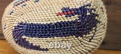 Fine Northwest Coast Makah Nootka Indian Abalone Shell Basket Native American