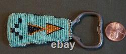 Fine Vintage Native American Fully Beaded Bottle Opener Arrow Patterns