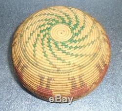 Fine antique Papago Indian friendship coil basket