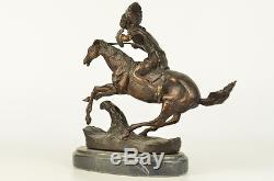 Frederic Remington Bronze Statue Native American Indian Horse 10 NR Sculpture