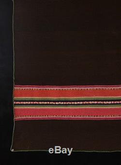 GORGEOUS RARE HISTORIC AYMARA INDIAN Body Wrap Fine Alpaca Textile TM12873
