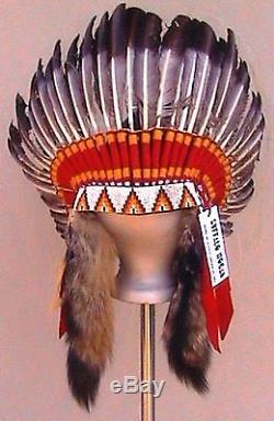 Genuine Native American Navajo Indian Headdress bonnet 36 diameter ANTIQUE