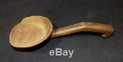 HANDSOME EASTERN WOODLAND LADLE CHERRY WOOD VERY GOOD CONDITION 19th CENT