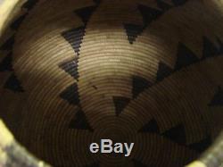 HUGE! 16x16 Native American Pima Split Yucca Stem&Leaf Lightning Motif Basket
