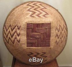 Huge Native American or African Woven Basket 19 3/4