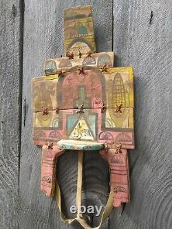 Jemez Kachina Tableta Antique Native American Ceremonial Dance Headdress