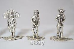 Kee Tsosie Navajo Artist Set of 12 Sterling Silver Handmade Kachinas 3618