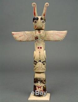 LARGE Early 1900s TLINGIT TSIMSHIAN Carabou Bone TOTEM Native Northwest NWC 28
