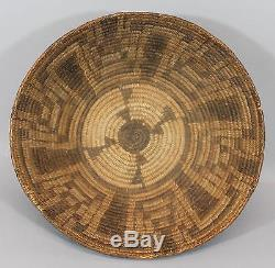 Large 13 in Antique Western Native American Indian Pima Basket, NR
