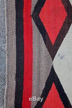 Large Antique Circa 1900 Western Native American Navajo Indian Wool Rug, NR