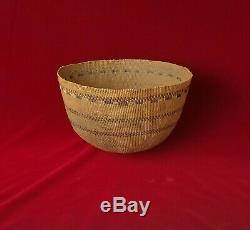 Large Antique Hupa or Pomo Twined Cooking Basket Native American Indian