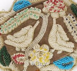 Large Antique Iroquois Mohawk Beaded Hummingbird Whimsey Pin Cushion