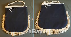 Large Early 1900 Native American Columbia River Plateau Contour Beaded Bag