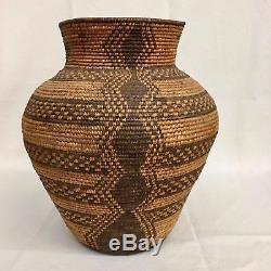 Large! Early Native American Yavapai / Western Apache Basket / Circa 1890s