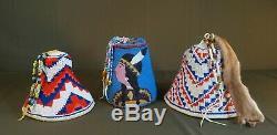 Large Native American Northwest Yakima Hop String Yarn Twined Ferret Hat