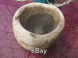 Large Northwest California Native American Stone Mortar Bowl