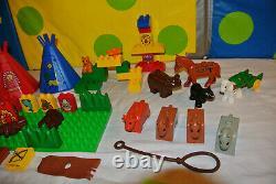 Lego Vintage Duplo Rare set 2436 BIG CHIEFS CAMP Native American Indian village