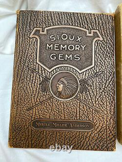 Lot/2 Antique Books Native American Indians Sioux Memory Gems/Indian Blankets