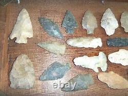Lot 30 Vintage Antique Arrowheads Tool Native American Indian