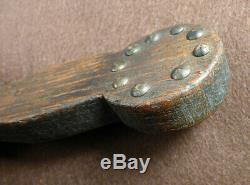 Mid 1800's Sioux Indian Dag Knife Original Trade Knife Forged Blade