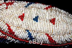 Native American Fully Beaded Cheyenne Infants Ceremonial Moccasins 1890 -1910