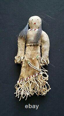Native American Antique Indian Children's Buckskin Doll