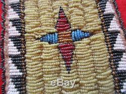 Native American Beaded Leather Tobacco, Strike-a-lite, Medicine Bag, Buf-00498