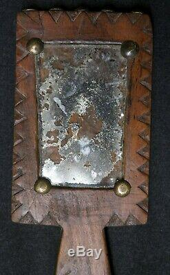 Native American Carved Mirror Plains Indians 1870-1890 ca