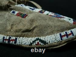 Native American Cheyenne Beaded Mocassins 1870-1890 ca