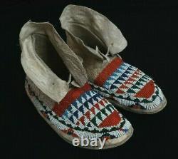 Native American Girl Beaded Mocassins Lakota Sioux 1870-1880
