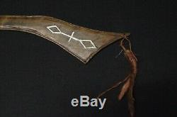 Native American Gunstock with Lead Inlays Prairie Indians