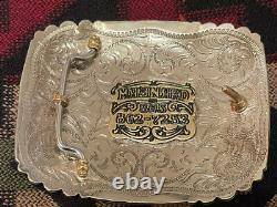 Native American Handmade USTRC 2009 Champion Team Roper trophy Buckle rodeo