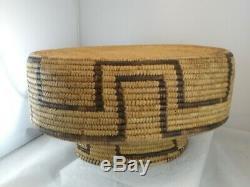 Native American Indian Basket Very Fine Northern Papago Pima Antique