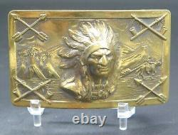 Native American Indian Chief Southwest Vintage Belt Buckle