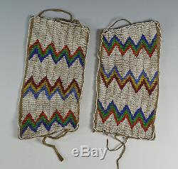Native American Indian Plains Beaded Cuffs