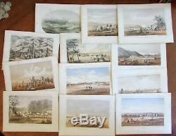 Native American Indians c. 1855 lot x 12 tinted litho views American West Sarony
