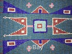 Native American Lakota Indian Pipe Bag Antique Seed Beads Brain Tanned Beaded