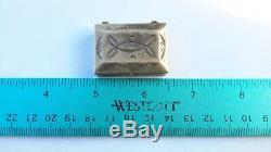 Native American Navajo Sterling Silver, Coin Silver Pill Box