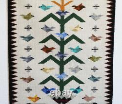 Native American Navajo Tree Of Life Rug By Marie Begay