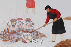 Native American Painting by Ma Pe Wi Velino Herrera / Zia Pottery Olla Makers