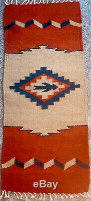 Native American Vintage/Antique Handmade Woven NAVAJO Indian Wool Rug/Tapestry
