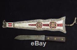 Native American knife and sheath Lakota Sioux
