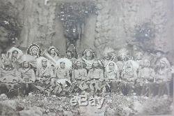 Native American men photograph Hill's Indian Brass Band antique c. 1905 photo