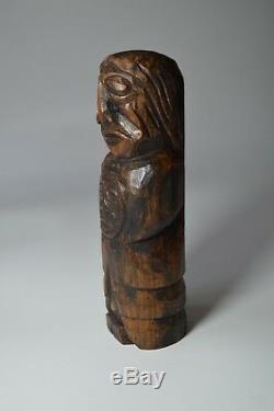 Native American west coast old carved shaman figure Haida Tlingit
