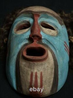 Native american West Coast Mask -(Tsimshian-Haida-Kwakiut-Tlingit-Salish-inuit)