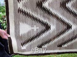 Navajo 66 X 42 Antique Native American Indian Rug / Blanket / Primitive