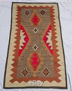 Navajo Indian Native American Wool Rug c. 1900s Vtg Antique 1930s 40s Blanket