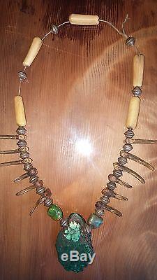 Navajo Medicine Mans Claw Necklacecirca (1860s -1870s / early phase)