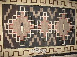 Navajo Native American Indian Rug ANTIQUE BLACK GANADO REGIONAL RESERVATION RUG